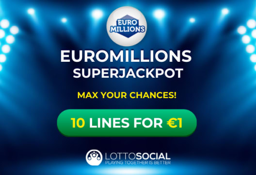 Grab 10 Lines for ONLY €1 at Lotto Social